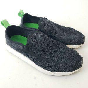 Sanuk Chiba Quest Knit Unisex Black Slip On Shoes